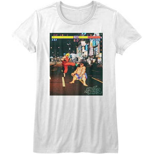 WOMEN'S STREET FIGHTER REAL STREET FIGHTER TEE