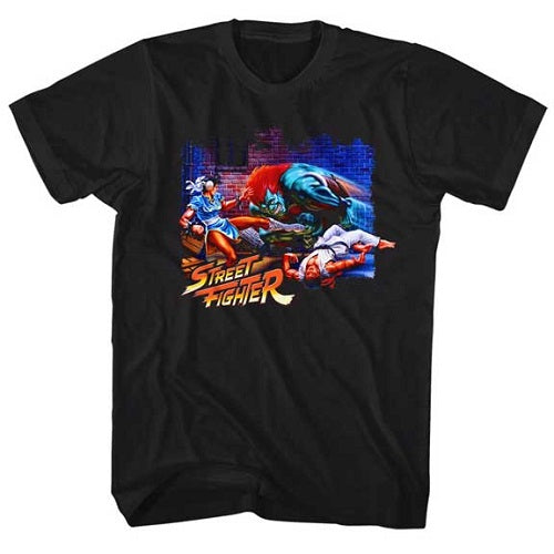 MEN'S STREET FIGHTER ALLEY FIGHT LIGHTWEIGHT TEE