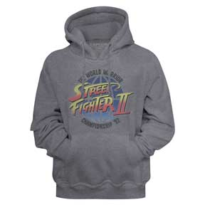 MEN'S STREET FIGHTER WORLD WARRIORS HEATHER PULLOVER HOODIE