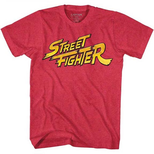 MEN'S STREET FIGHTER RED YELLOW LOGO LIGHTWEIGHT TEE