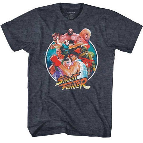 MEN'S STREET FIGHTER GROUP CIRCLE LIGHTWEIGHT TEE