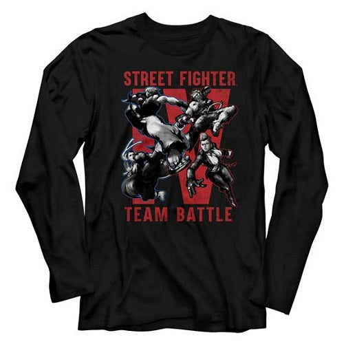 MEN'S STREET FIGHTER TEAM BATTLE LONG SLEEVE TEE