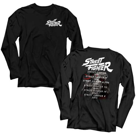 MEN'S STREET FIGHTER VERSUS LONG SLEEVE TEE