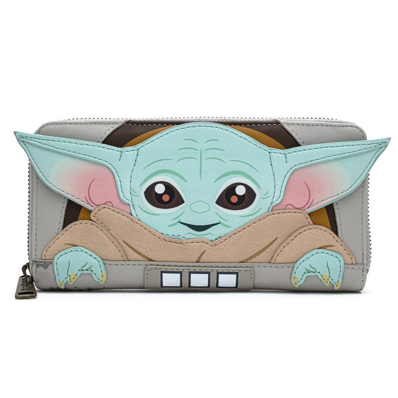 LOUNGEFLY STAR WARS MANDALORIAN THE CHILD CRADLE WALLET
