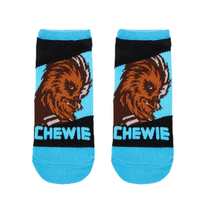 STAR WARS CHEWBACCA NO-SHOW SOCKS - Blue Culture Tees