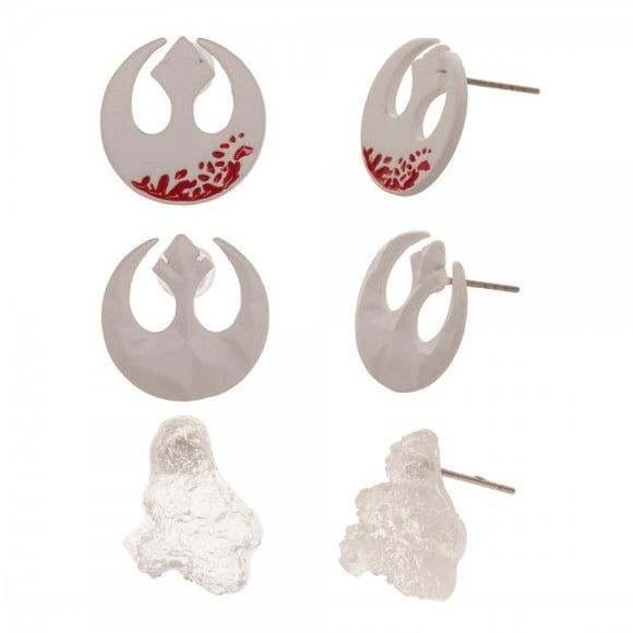 STAR WARS EPISODE 8 - 3 PACK EARRINGS - Blue Culture Tees