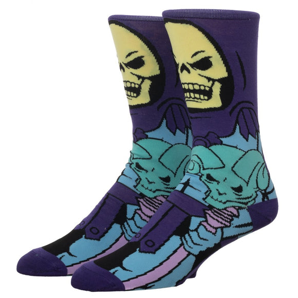 MEN'S MASTERS OF THE UNIVERSE SKELETOR 360 CHARACTER CREW SOCKS