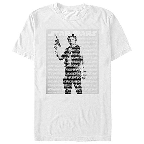Men's Star Wars Han Solo Text Tee - Blue Culture Tees