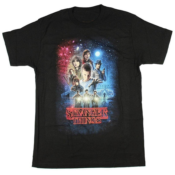MEN'S STRANGER THINGS SEASON 1 POSTER TEE