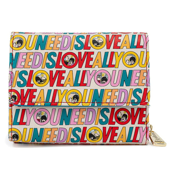 Loungefly The Beatles All You Need is Love AOP Wallet