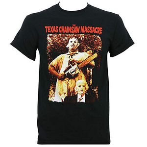 MEN'S TEXAS CHAINSAW MASSACRE LEATHERFACE AND GRANDPA TEE - Blue Culture Tees