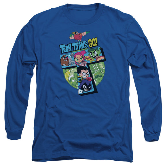 MEN'S TEEN TITANS GO! T LONG SLEEVE TEE