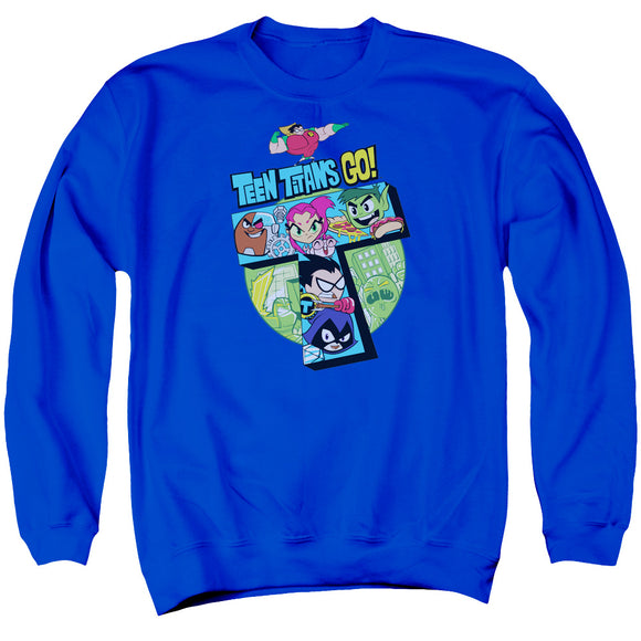 MEN'S TEEN TITANS GO! T CREWNECK SWEATSHIRT