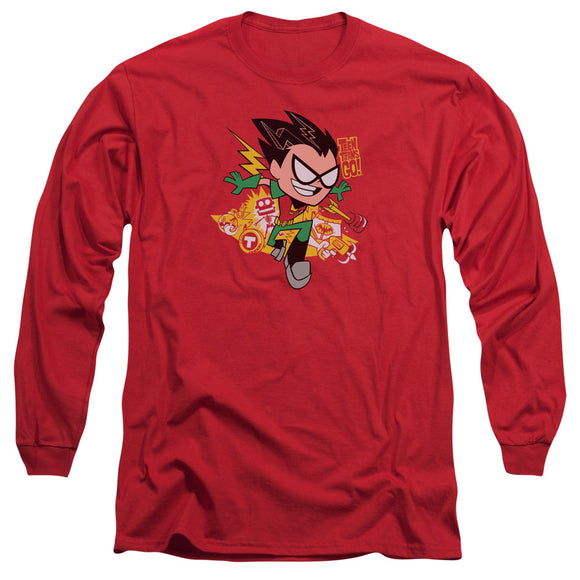 MEN'S TEEN TITANS GO! ROBIN LONG SLEEVE TEE