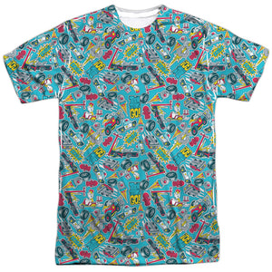MEN'S TEEN TITANS GO! PATTERN SUBLIMATED TEE