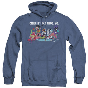 MEN'S TEEN TITANS GO! LIKE PROS YO HEATHER PULLOVER HOODIE