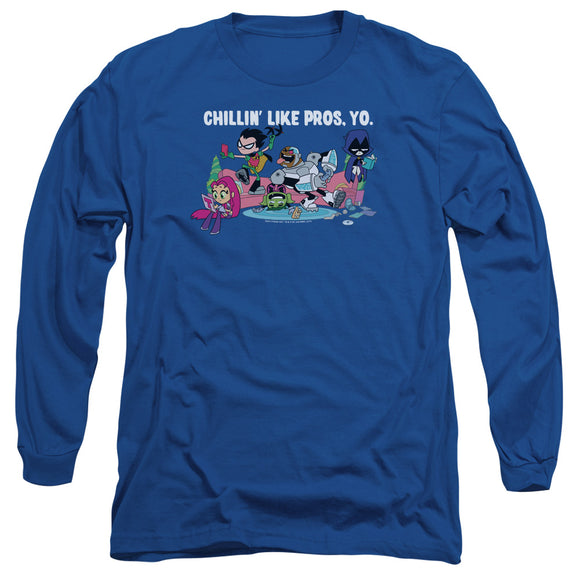 MEN'S TEEN TITANS GO! LIKE PROS YO LONG SLEEVE TEE