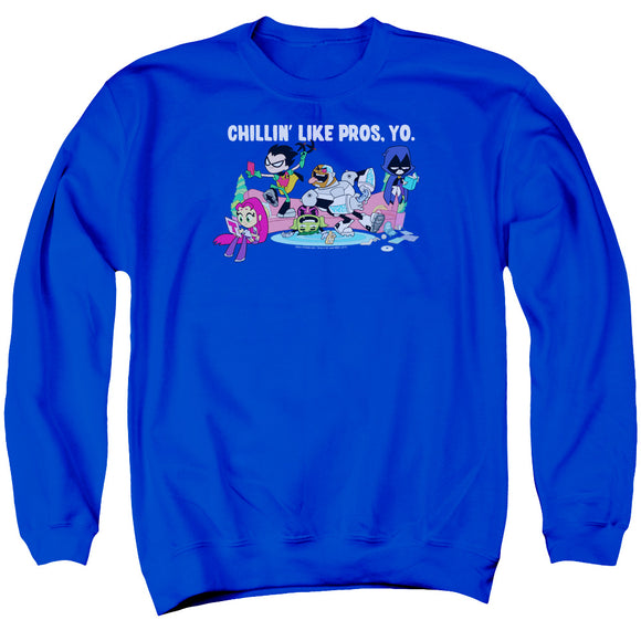 MEN'S TEEN TITANS GO! LIKE PROS YO CREWNECK SWEATSHIRT