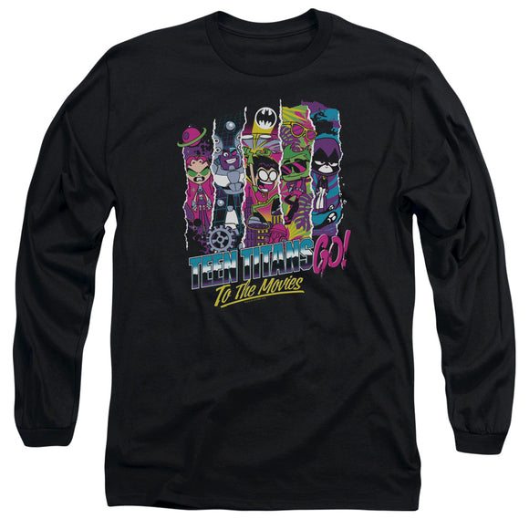 MEN'S TEEN TITANS GO! TO THE MOVIES LONG SLEEVE TEE
