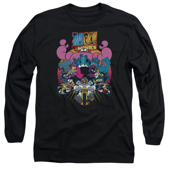 MEN'S TEEN TITANS GO! BURST THROUGH LONG SLEEVE TEE