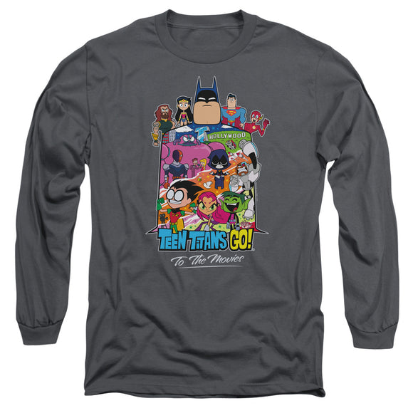 MEN'S TEEN TITANS GO! HOLLYWOOD LONG SLEEVE TEE