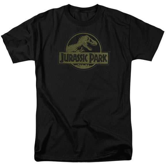 MEN'S JURASSIC PARK DISTRESSED LOGO TEE