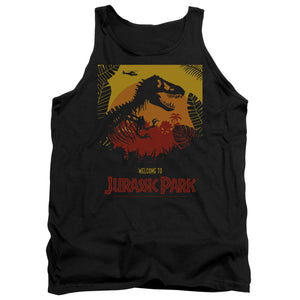 MEN'S JURASSIC PARK WELCOME TO JP TANK TOP