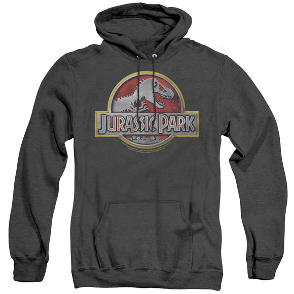 MEN'S JURASSIC PARK LOGO HEATHER PULLOVER HOODIE
