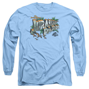 MEN'S JURASSIC PARK GREETINGS FROM JP LONG SLEEVE TEE