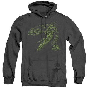 MEN'S JURASSIC PARK RAPTOR MOUNT HEATHER PULLOVER HOODIE