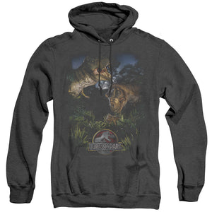 MEN'S JURASSIC PARK HAPPY FAMILY HEATHER PULLOVER HOODIE