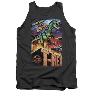 MEN'S JURASSIC PARK REX IN THE CITY TANK TOP