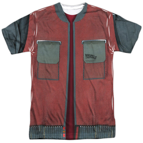 MEN'S BACK TO THE FUTURE 2 FUTURE JACKET SUBLIMATED TEE
