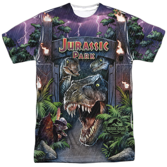 MEN'S JURASSIC PARK WELCOME TO THE PARK SUBLIMATED TEE
