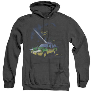 MEN'S JURASSIC PARK TURN IT OFF HEATHER PULLOVER HOODIE