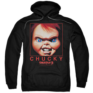 MEN'S CHILDS PLAY 3 CHUCKY SQUARED PULLOVER HOODIE
