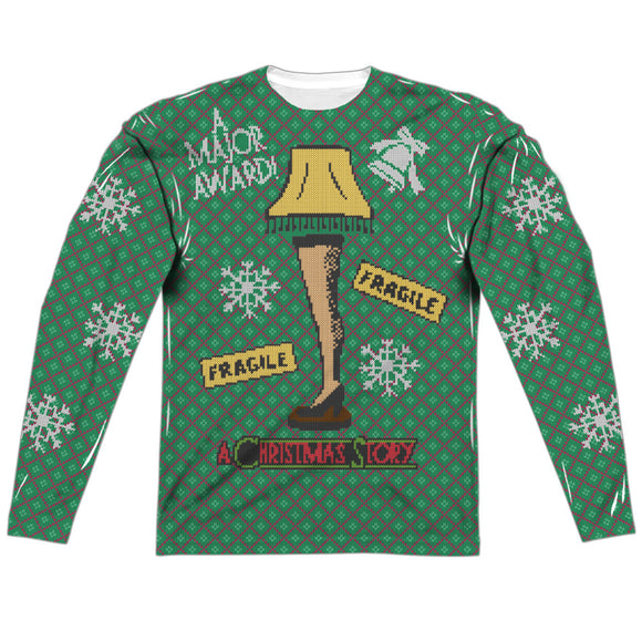 MEN'S A CHRISTMAS STORY LEG LAMP SWEATER LONG SLEEVE TEE