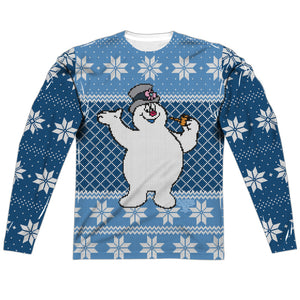 MEN'S FROSTY THE SNOWMAN FROSTY SWEATER SUBLIMATED LONG SLEEVE TEE