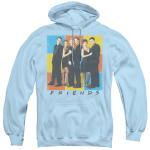 MEN'S FRIENDS COLOR BLOCK OF FRIENDS PULLOVER HOODIE