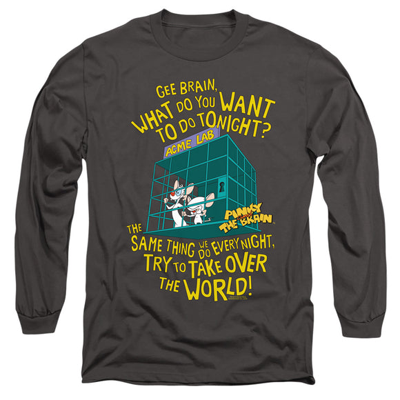 MEN'S PINKY AND THE BRAIN THE WORLD LONG SLEEVE TEE