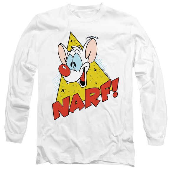 MEN'S PINKY AND THE BRAIN NARF LONG SLEEVE TEE