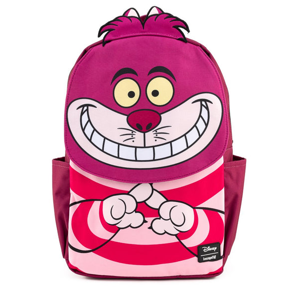 Loungefly Disney Alice in Wonderland Cheshire Cat Cosplay Square Nylon Backpack