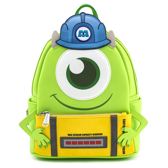 LOUNGEFLY DISNEY MONSTERS INC MIKE WITH SCARE CAN COSPLAY MINI BACKPACK