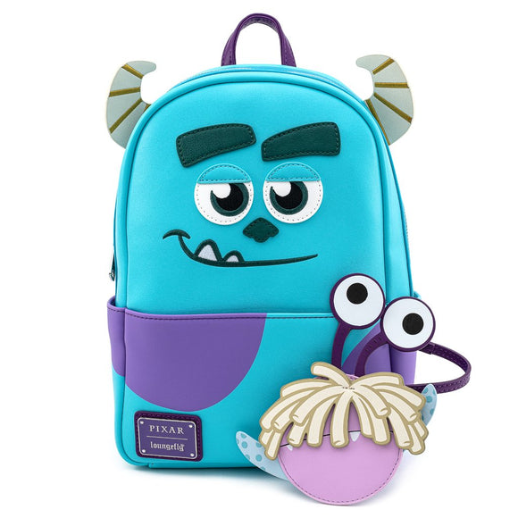 LOUNGEFLY DISNEY MONSTERS INC SULLY WITH BOO COIN POUCH COSPLAY MINI BACKPACK