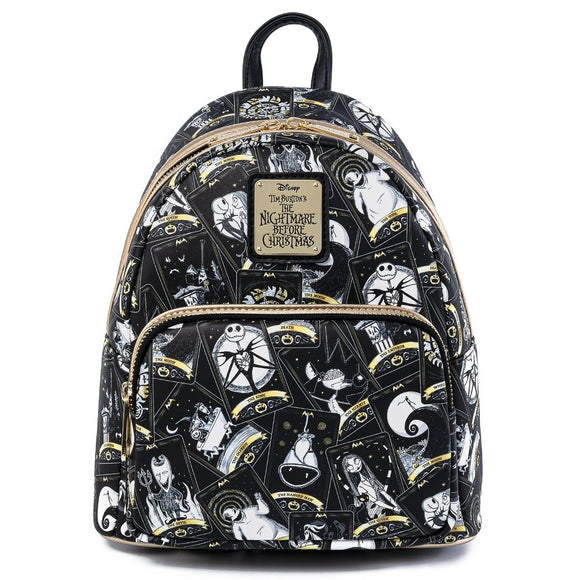 LOUNGEFLY THE NIGHTMARE BEFORE CHRISTMAS TAROT CARD MINI BACKPACK