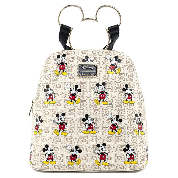 LOUNGEFLY DISNEY MICKEY HEAD HARDWARE AOP BACKPACK - PREORDER