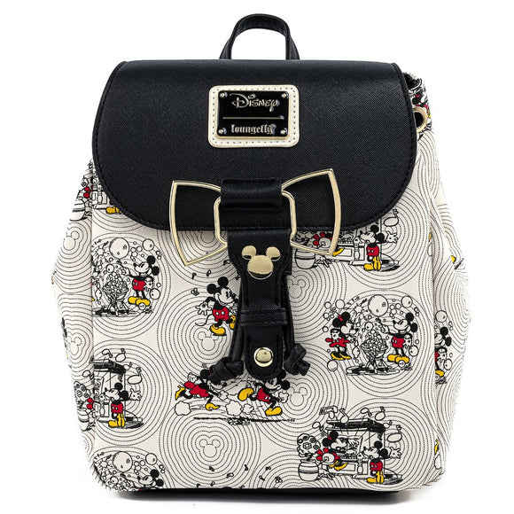 Loungefly Disney Mickey Bow Hardware AOP Backpack