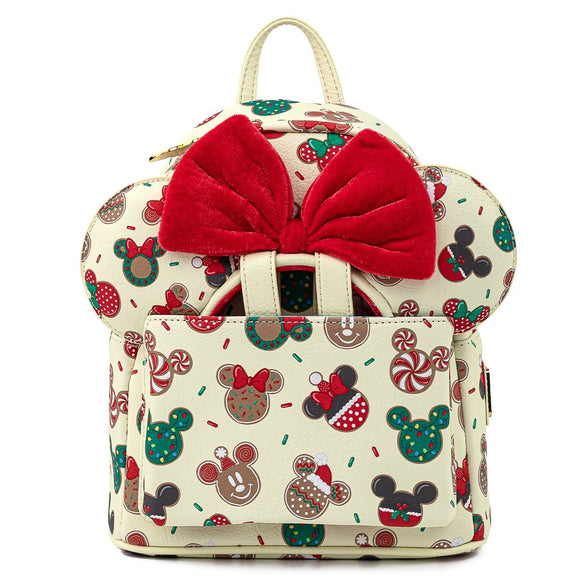 Loungefly Disney Christmas Mickey and Minnie Cookie Backpack and Ears Set - Preorder