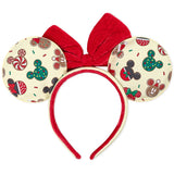 Loungefly Disney Christmas Mickey and Minnie Cookie Ears - Preorder