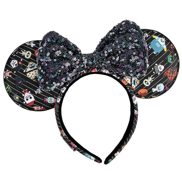 LOUNGEFLY THE NIGHTMARE BEFORE CHRISTMAS CHIBI AOP EARS HEADBAND